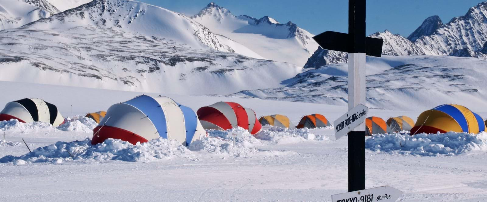 Union glacier camp, Antarktis